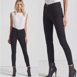 Current/Elliott High Waist Stiletto Jeans in Black
